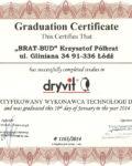 Certyfikowany wykonawca technologii Dryvit